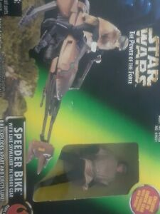 Kenner-1996-Star-Wars-POTF-Speeder-Bike-With-Luke-Skywalker-In-Endor-Gear-NIB