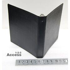 1 Heavy Duty 3 Rings Binder Double Lock Black Vtg 10 X 11 68