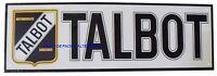 Plaque Talbot Automobile En Metal Tole Voiture Logo Car Cadre Idée Cadeau Neuf