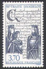 France 1987 Royalty/Treaty of Andelot/People/History/Heritage 1v (n40755)