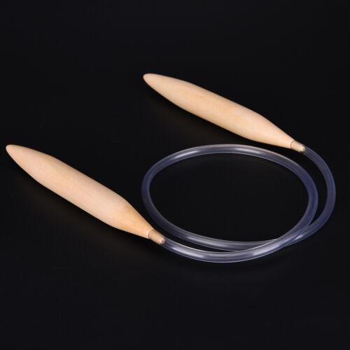 "Bamboo Fixed Circular Knitting Needle Pin 32/"" 80cm Length 20mm Size Pip UK"