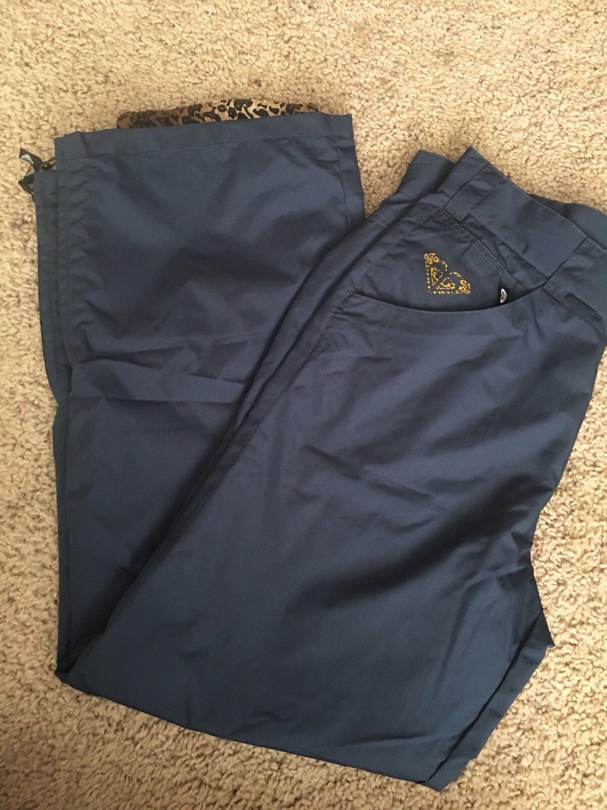 Roxy Size M Navy bluee Leopard print X-series Snowboad Pants NEW ski rare 2003
