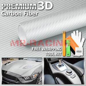 """60/""""x84/"""" 3D Carbon Fiber Gray Textured Matte Car Vinyl Wrap Sticker Decal Film"""