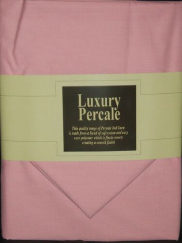 """Extra Deep 13/"""" 4FT 3//4 Bed Fitted Sheet With 2 Free Pillowcases Pink"""