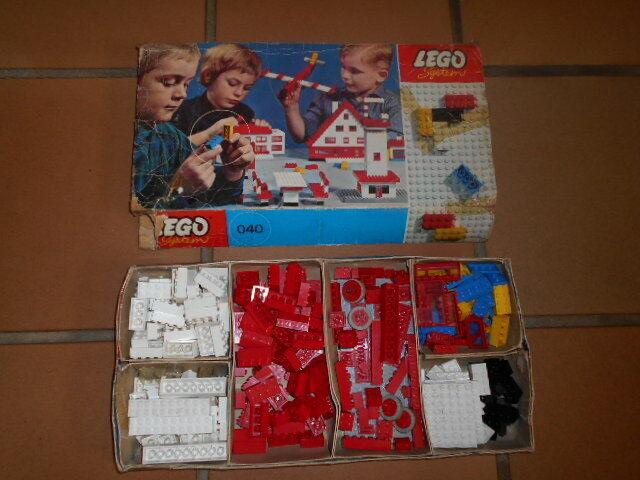 Ancienne boite Legos System 1964 Basic building Set in Cardboard 040-1