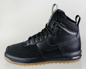 pretty nice acb77 e5903 Image is loading NIKE-LUNAR-FORCE-1-DUCKBOOT-BLACK-GUM-SIZE-