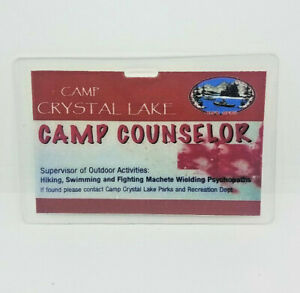 Viernes-The-13th-Identificacion-Badge-Camp-Crystal-Lake-Parque-Camp-Counselor