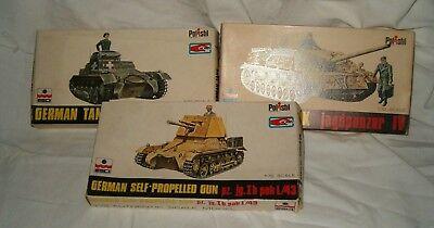 Esci Polistil German Tank 3 Modelli Da Costruire