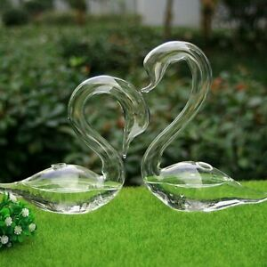 1-Pair-Glass-Swan-Bud-Vase-for-Indoor-Plants-or-Fresh-Flowers-Use-for-gifts