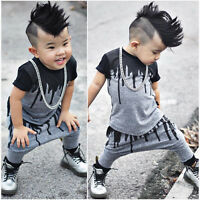 Toddler Kids Baby Boy T-shirt Tops+long Pants Trousers Outfits Clothing Set Us