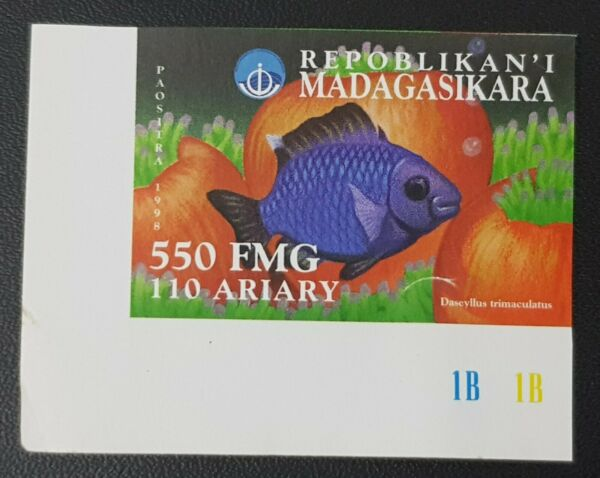 Adaptable Madagascar 1998 - Imperf Nd - Fish Fishes Poissons Rare Mnh