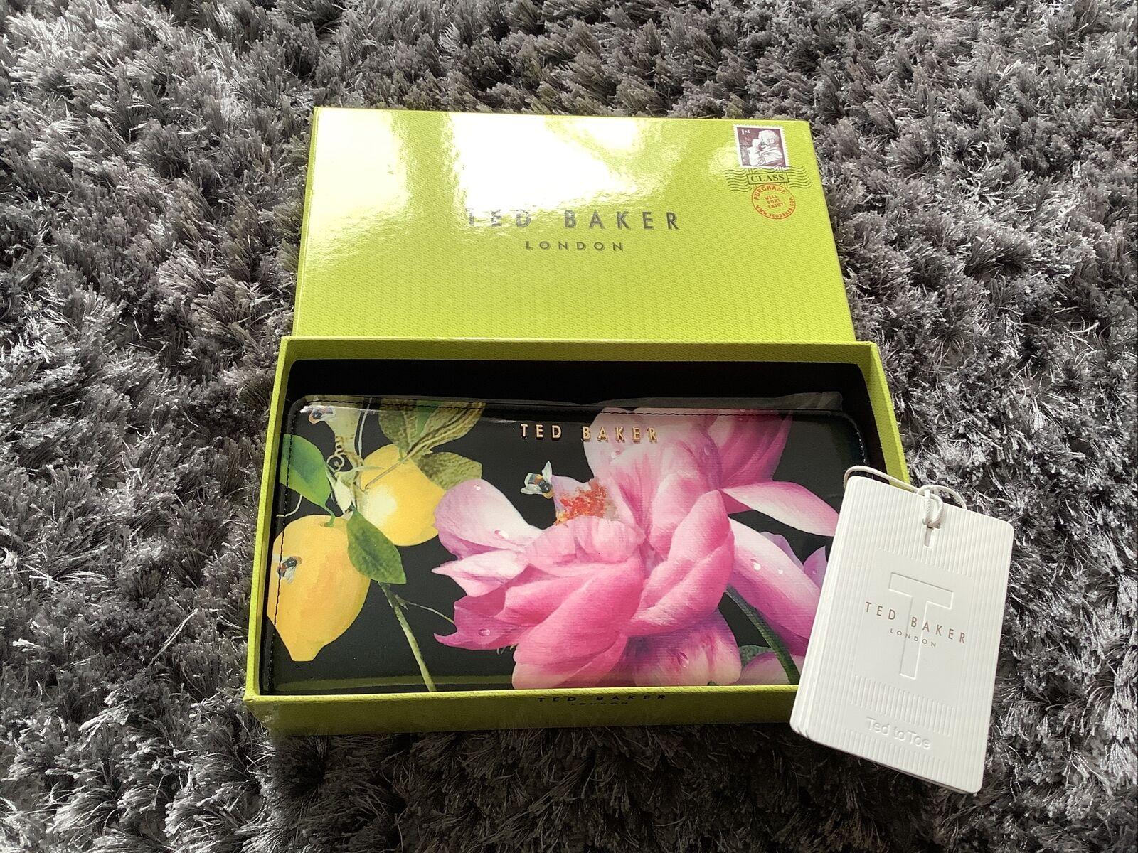 * BNWT Brand New Ted Baker 'Barbra' Citrus Bloom Floral Highbox Matinee Purse *