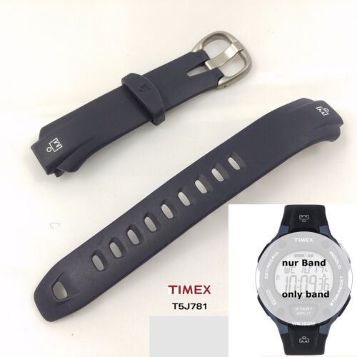 Timex Replacement Band for t5j781 Ironman 30 Lap Flix t5j781 PU Band Dark Blue