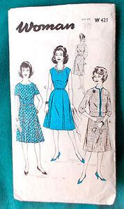 Lovely-Original-Vintage-1960s-Dress-Top-Jacket-amp-Skirt-Sewing-Pattern-Bust-36-034