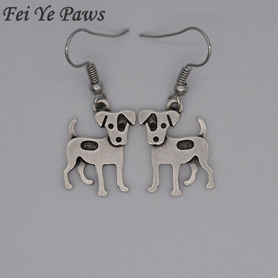 Stunning Silver Tone Boxer Dog Necklace.With Organza Bag ..