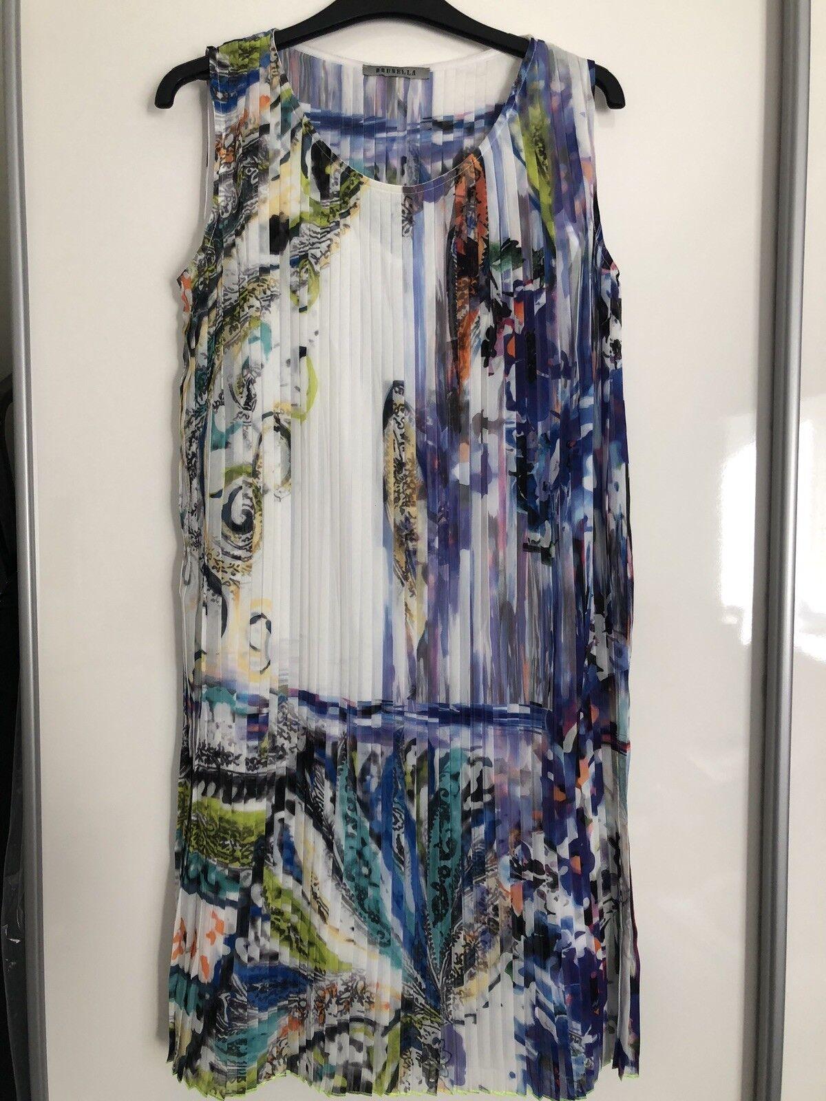 Nuovo Nuovo Nuovo di Zecca Brunella abito a pieghe, Taglia 8-10 ea6f87