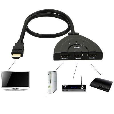 NEW 3 Port HDMI 1.3 1080P Switcher Switch Splitter for HDTV DVD Xbox 360 USA