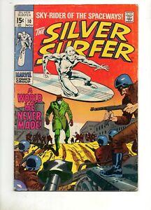Silver-Surfer-10-Shalla-Bal-finds-the-Surfer-at-Last-Marvel-VG-Fn-5-0-1969