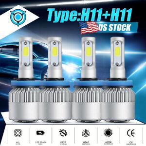 4Pcs-LED-Headlight-Bulbs-H11-H11-Combo-4000W-600000LM-High-Low-Beam-Fog-Lights