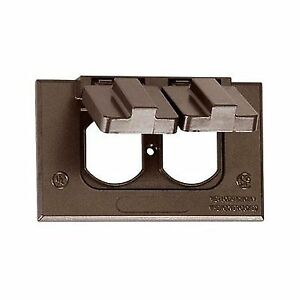 Sigma 1 Gang Bronze Weatherproof Duplex Receptacle Cover 14245br Ebay