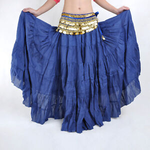 New-Belly-Dance-Costume-Skirt-Gypsy-Bohemian-Tribal-Skirt-16-Colors