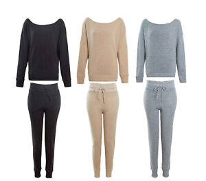 Ladies-Crop-Oversized-Knitted-Lounge-Suit-Women-s-Co-ord-Winter-2-Pc-Set-8-14