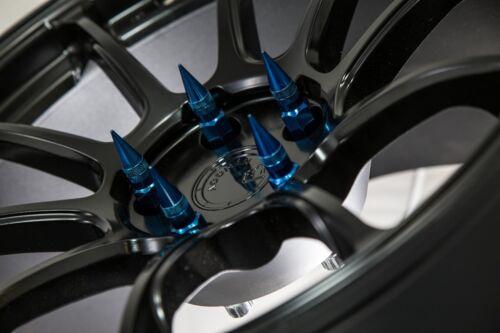 92mm AodHan XT92 12X1.25 Steel Blue Spiked Lug Nuts Fits G35 350z 370z