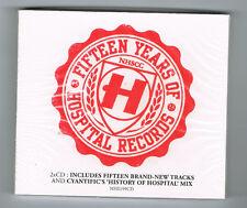 HOSPITAL RECORDS - FIFTEEN YEARS OF - 2011 - 2 CD SET - 44 TRACKS - NEUF NEW NEU