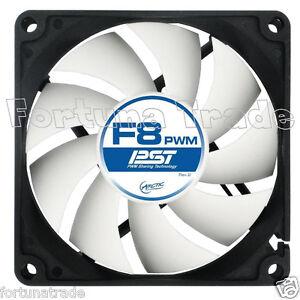 Arctic-Cooling-F8-PWM-Gehaeuse-Luefter-80mm-x-80-mm-x-25-NEU-OVP-034-Fortuna-Trade-034