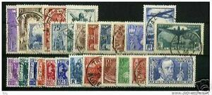 FRANCE-STAMP-ANNEE-COMPLETE-1936-25-TIMBRES-OBLITERES-TRES-BELLE-QUALITE