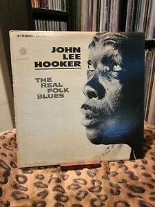 John-Lee-Hooker-The-Real-Folk-Blues-LPS-1508-1966-Original-Press-Vg