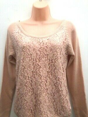 Ladies new ex New Look Lace /& Crochet  blouse top  size S M L