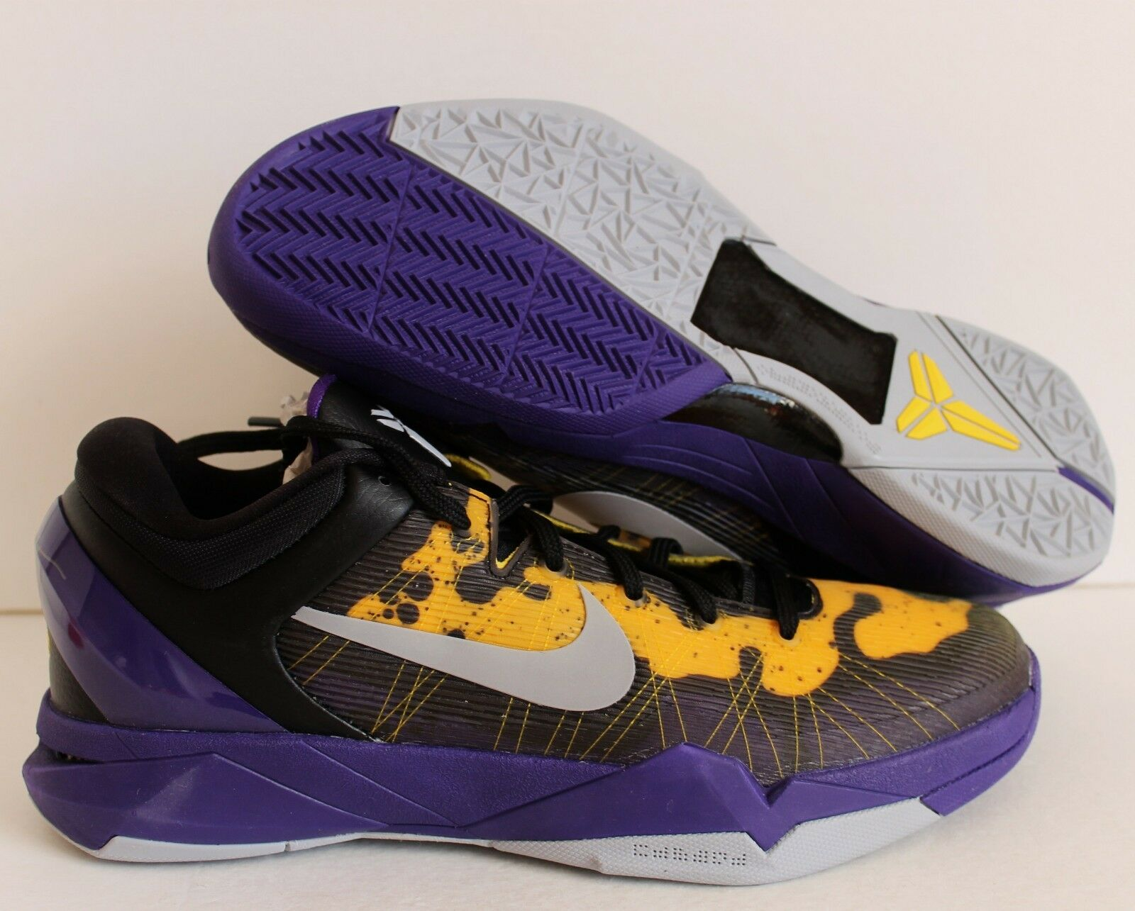 NIKE 2011 ZOOM KOBE VII 7 SYSTEM PURPLE-YELLOW-BLACK Price reduction Great discount