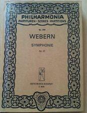 Webern symphonie op 21 taschenpartitur