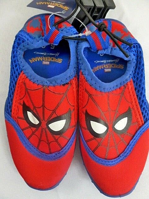 super popular b8ec7 3e7be Spiderman Water Shoes Little Boys Size Small 5-6 Beach Slip on Red Blue for  sale online   eBay