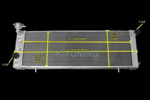 "3 Row Aluminum Radiator Jeep 91-01 CHEROKEE Cherokee 2.5 4.0 L4 L6  31/""W Core"