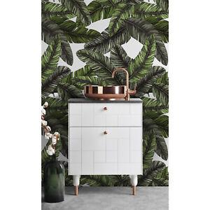 Banana-Green-Leaves-Self-Adhesive-Wall-Covering-jungle-Wallpaper-Peel-amp-Stick
