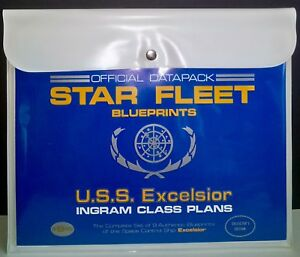 Star-Trek-Set-of-8-Star-Fleet-USS-Excelsior-Blueprints-1st-Print-1986-29-034-x-12-5-034