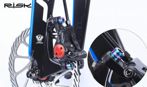 4x M6*18//20mm Disc Brake Bolts Clamp Titanium Road MTB Bike Bicycle Screw Bolt