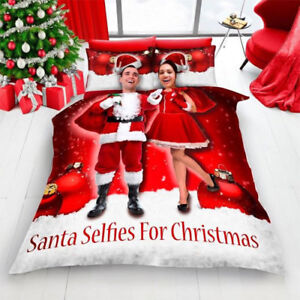 Christmas Red Selfie for Christmas Duvet Set