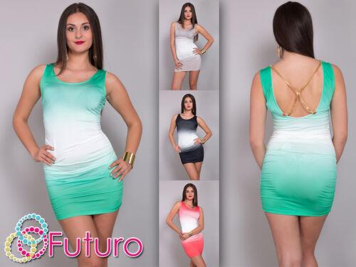 Women/'s Multicoloured Mini Dress Bodycon Sleeveless Tunic Top Sizes 8-12 FC113