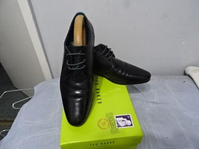 Mens Ted Baker Teibor Black Leather Lace-up shoes UK 9, EU 43 & US 10 -
