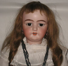 "Large Antique German S&H Simon & Halbig 1079 Bisque Head Doll 34"" tall  #L75"