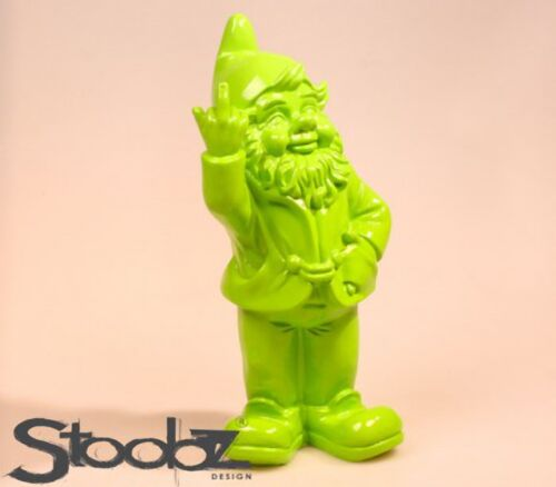 Made in The Netherlands Rude Naughty Garden Gnome Giving the Finger Salute NIB