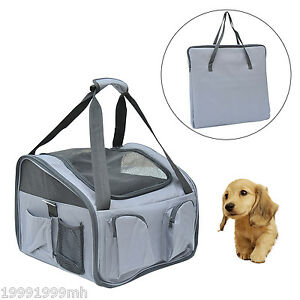 PawHut Pet Car Seat Travel Booster Carrier Lookout Safety Soft 3 in 1 Dog Cat