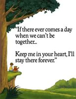 Winnie The Pooh - If There Ever Comes A Day - Iron On Transfer 8x11