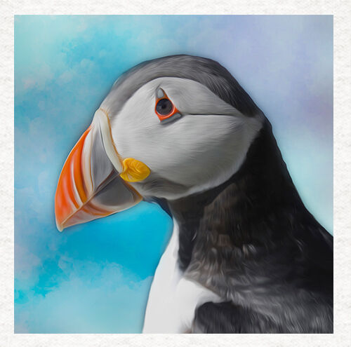 Arctic Puffin Puffin Fabric Quilting SewingCraft Panel