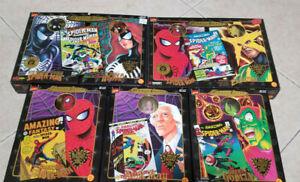 ToyBiz Marvel FAMOUS COVERS Spiderman Electro Spiderwoman & More LOT 7 Figures