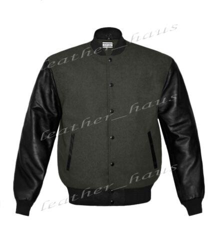 Véritable Housse en cuir Letterman College Varsity Hommes Laine Vestes BSL-Bband-Le