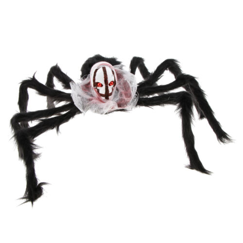 Halloween Prop Große Schädel Kopf Spinne Horrible Spukhaus Home Bar Pub